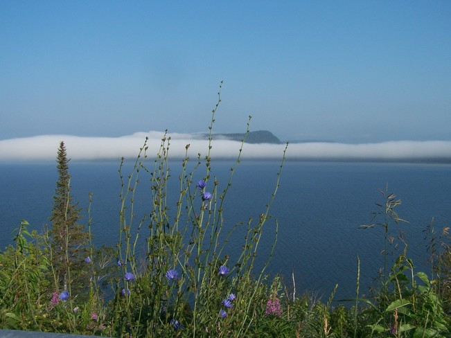 Fog off Lake Superior @ Kama Point (Northernmost point of the Great Lakes) Nipigon, Ontario