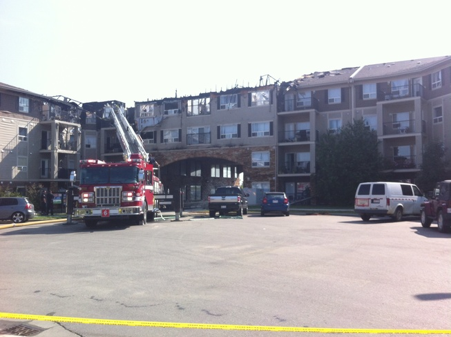 fire in parkland apartment Callingwood, Alberta Canada