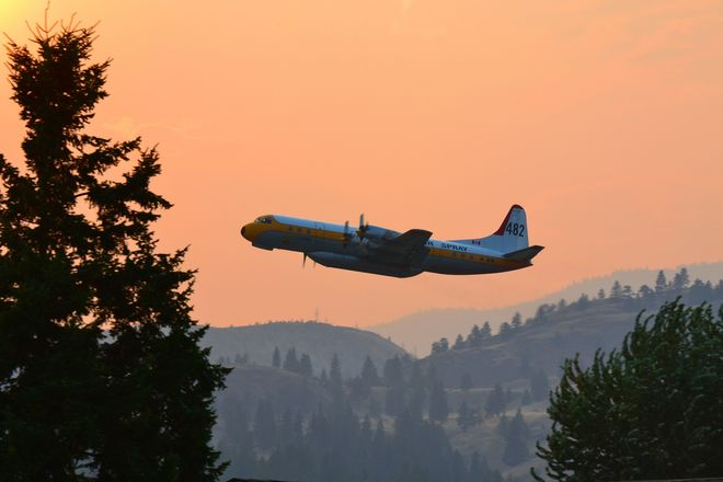 Smoke from Forest fires south of Osoyoos Penticton, BC