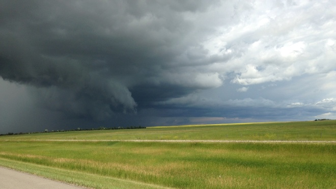Aftermath of hailstorm in Claresholm, Alberta Range Road 283, Stavely, AB T0L 1Z0, Canada