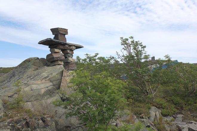 Inukshuk on Signal Hill St. John's, NL
