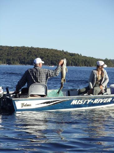 Fishing Beautiful Lake, Parry Sound, Unorganized, North East Part, ON