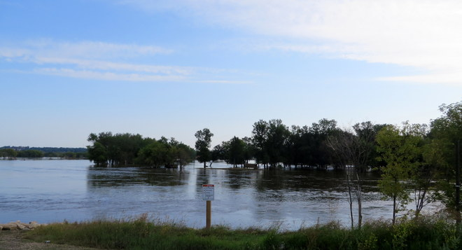 Flood Waters along First Street Brandon, MB