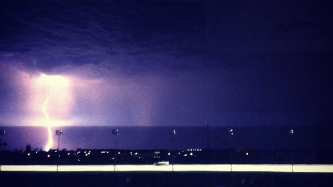 Lightning at the Track Innisfil, ON