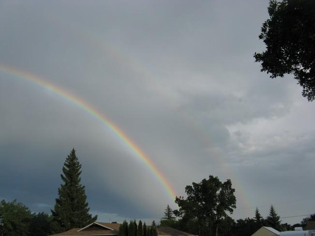 Rainbow over Eston Eston, SK