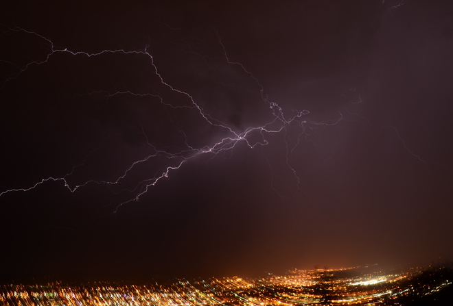 Lightning over Prince George, BC