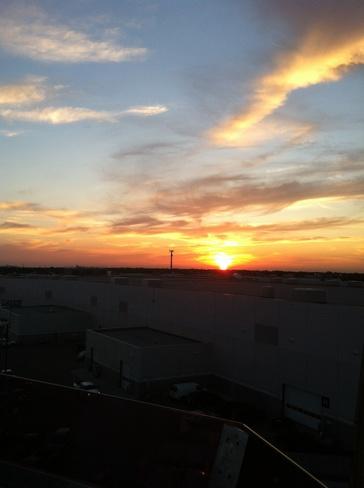 sunset Edmonton, Alberta Canada