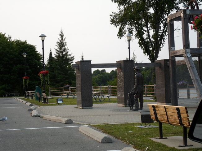 Nice Sunny Day/Great Time to Visist the Miners Memorial in E.L. Elliot Lake, Ontario Canada