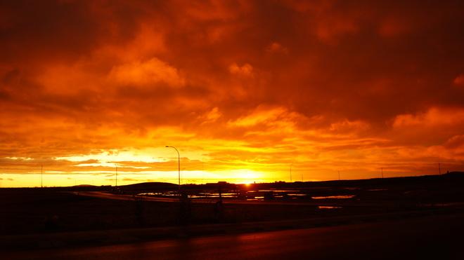 Amazing Saskatchewan Sunset Pilot Butte, SK
