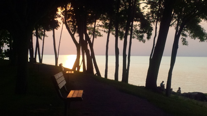 Sunset with seating Niagara On The Lake, Ontario Canada