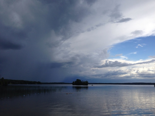Storm coming on Thunder Lake Dryden, Ontario Canada