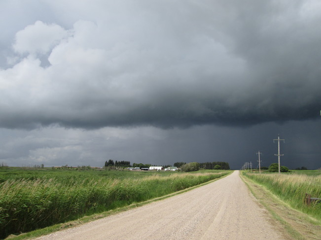 storm cell just north of Cypress River MB. 5:00 pm Cypress River, MB