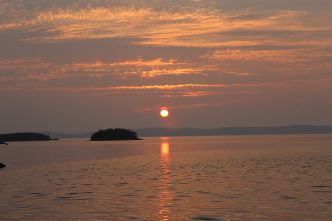 Sun set at New Harbour,NL07 New Harbour, NL