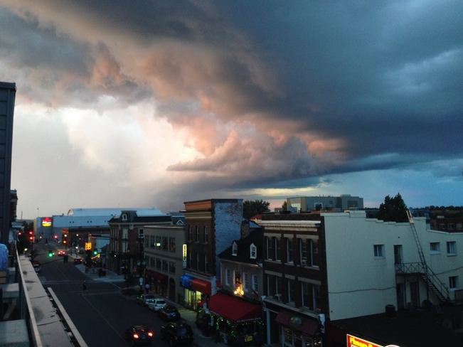 Storm rolling into Kingston, Ontario 28 Queen Street, Kingston, ON K7K, Canada