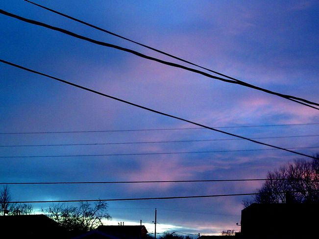 Cotton Candy Sunset Before Shower New Waterford, Nova Scotia Canada