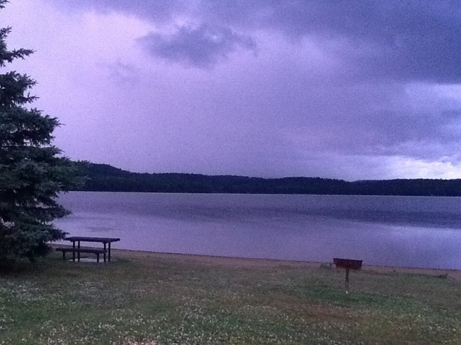 Unsettled conditions Tuesday evening in Elliot Lake Elliot Lake Ontario