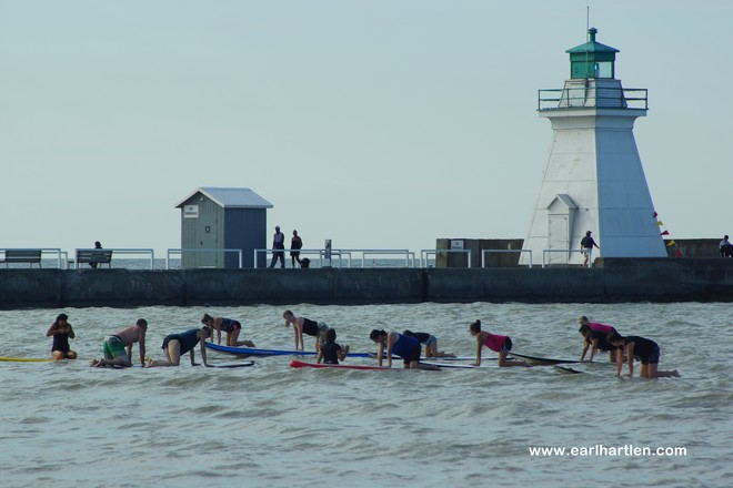 Paddleboard Yoga Port Dover, Ontario Canada