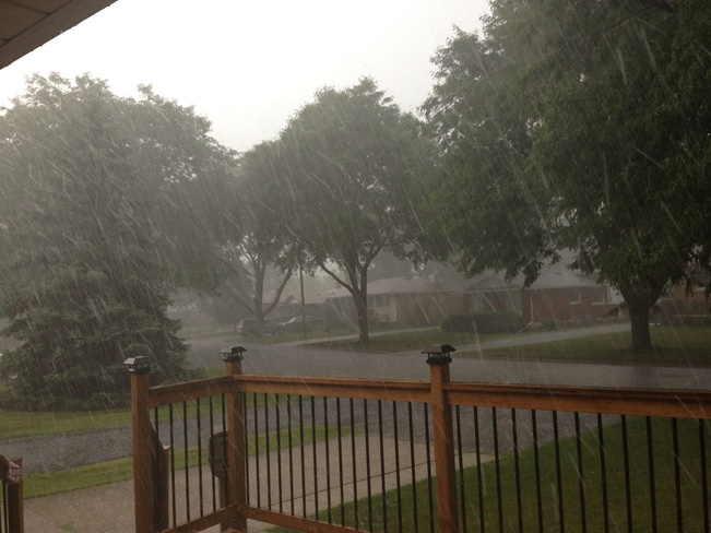 Crazy Hail Storms! Chippawa, Ontario Canada