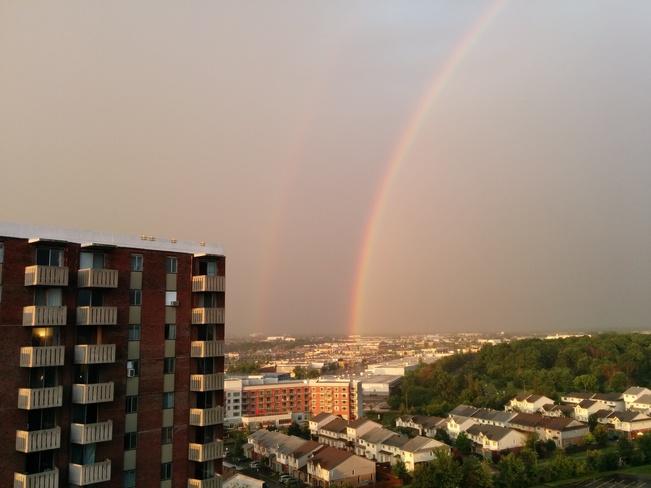 Rainbow and Sunset Ottawa, ON