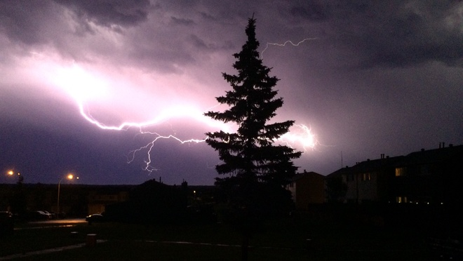 Awesome night for lightning Abasand Heights, Alberta Canada