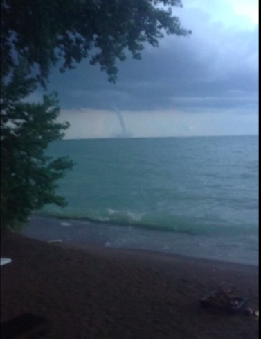Waterspout on Great Lakes 2-4 Marina Road, Port Colborne, ON L3K 6C6, Canada