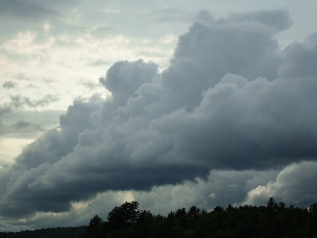 ELLIOT LAKE STORM CLOUDS today Elliot Lake, Ontario Canada