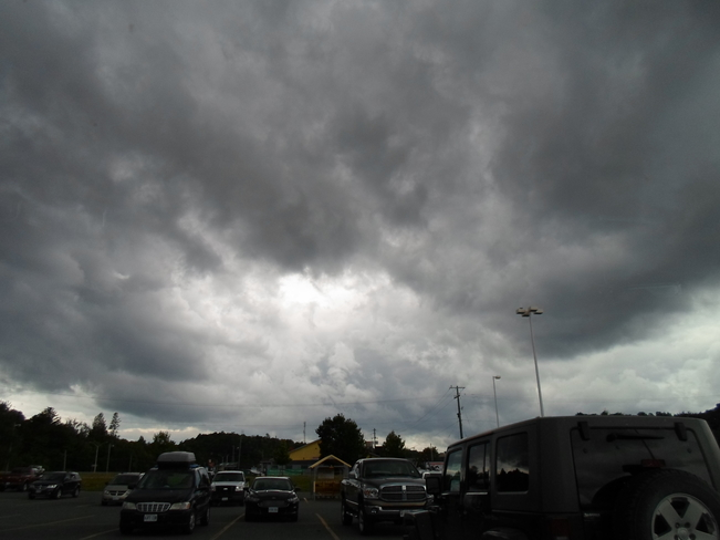 Dark Clouds over ELLIOT LAKE TODAY Elliot Lake, Ontario Canada