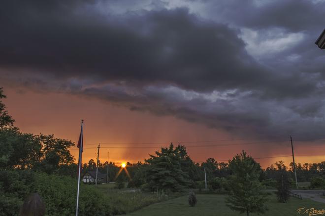 Fiery Sunset Port Elmsley, ON