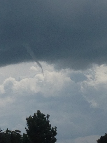 funnel cloud Barrie, Ontario Canada