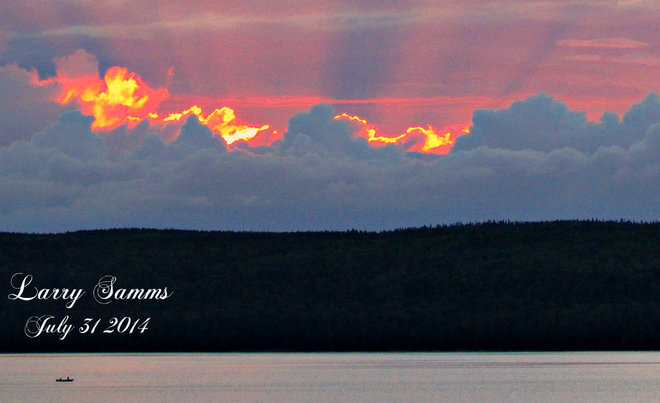 """July's Last Sunset"" South Brook, Newfoundland and Labrador Canada"