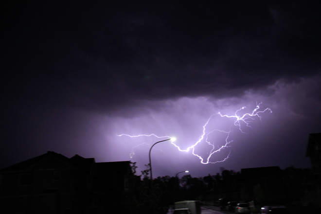 Lightning Storm in Fort McMurray Fort McMurray, AB