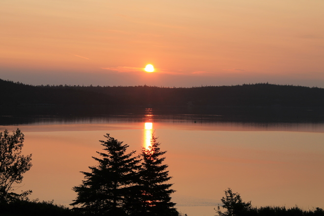 early sunrise on August 1 Ship Harbour, NS