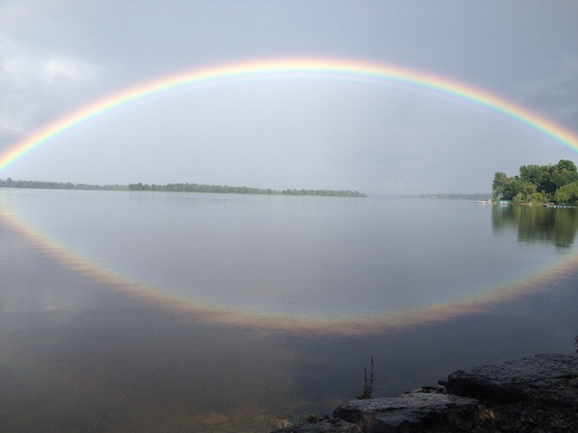 The eye of the rainbow Rockland, Ontario Canada