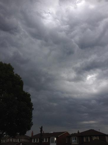 storm approaching Ajax, Ontario Canada