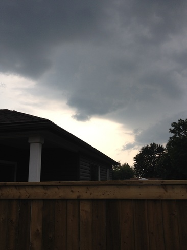 storm approaching Thamesford, Ontario Canada