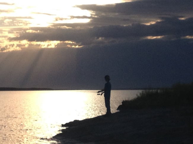 fishing in the evening Estevan, Saskatchewan Canada