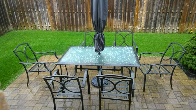 Hail in Thornhill, Vaughan, Ontario Thornhill, Vaughan, ON
