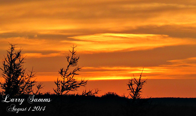 """First August Sunset"" Springdale, Newfoundland and Labrador Canada"