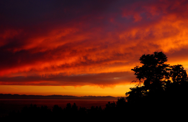 sunsettime last night West Vancouver, BC