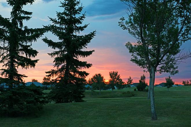 Beginning of a Warm Summer Day Lethbridge, Alberta Canada