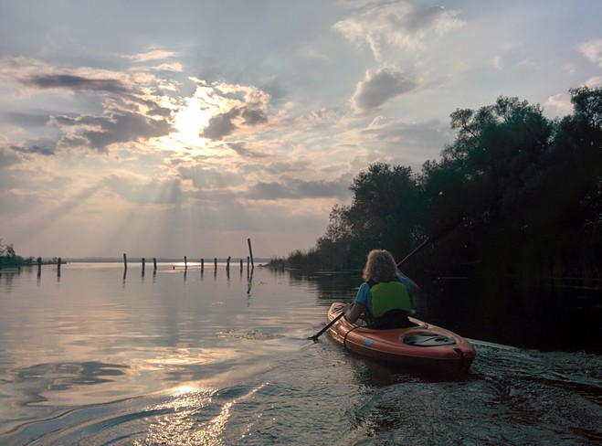 Kayaking in to the sunset Georgina, Ontario