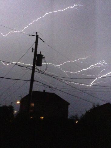 Éclairs à Beauport Rue Seigneuriale, Beauport, QC