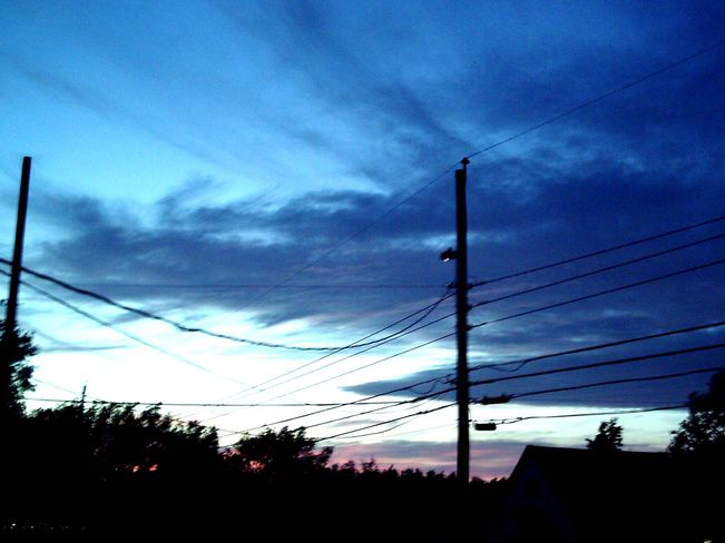 Blue Sunset in the Warmth New Waterford, Nova Scotia Canada