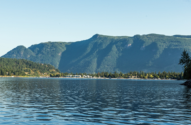 Mara Lake gorgeous August day Waterway Houseboat Vacations, Mervyn Road, Sicamous, BC