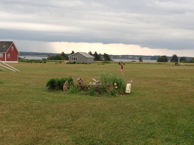 watching the storm coming in French Village, Prince Edward Island Canada