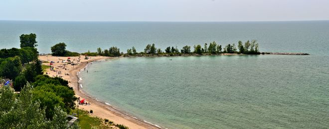 """The Cove"" beach. Goderich, ON"