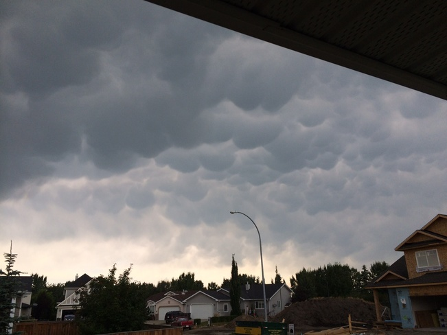 Weird clouds over Carstairs, AB Carstairs, Alberta Canada