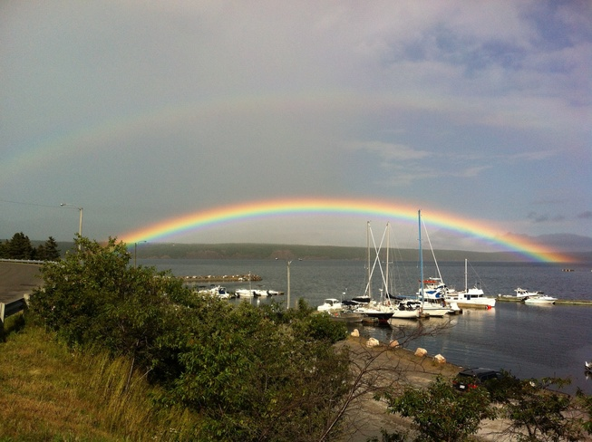 rainbow after the rain Clarenville, Newfoundland and Labrador Canada