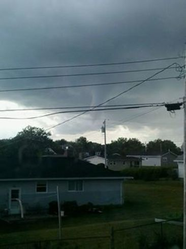 Appears to be Funnel cloud forming in Glace Bay / Sydney Area Glace Bay, NS