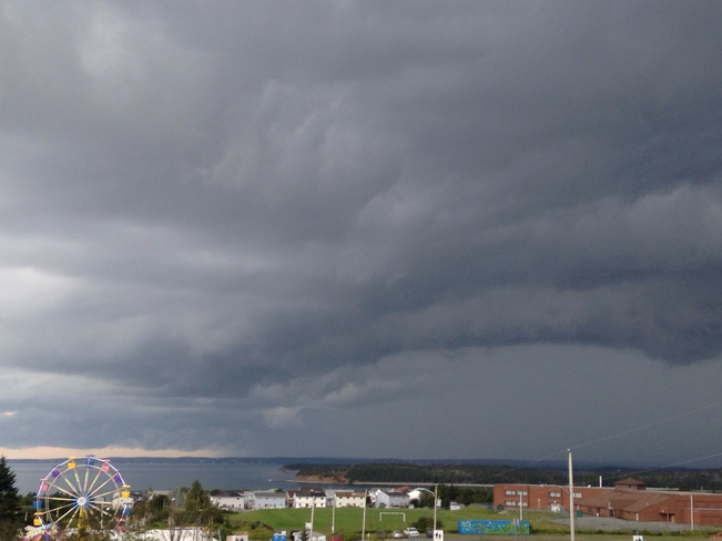 view of nasty weather ahead Eastern Passage, Nova Scotia Canada